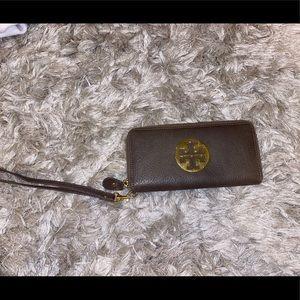 Grey Tory Burch wallet